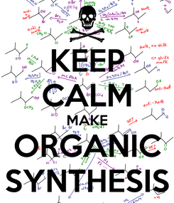 Poster: KEEP CALM MAKE ORGANIC SYNTHESIS