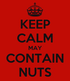 Poster: KEEP CALM MAY CONTAIN NUTS