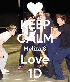 Poster: KEEP CALM Meliza & Love 1D
