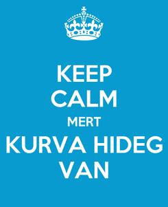Poster: KEEP CALM MERT KURVA HIDEG VAN