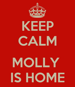 Poster: KEEP CALM  MOLLY  IS HOME