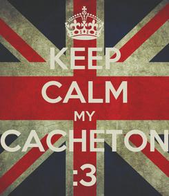 Poster: KEEP CALM MY CACHETON :3