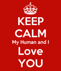 Poster: KEEP CALM My Human and I Love YOU