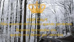 Poster: KEEP CALM Não estamos derrotados quando perdemos  … Estamos derrotados sim,  quando nos damos por vencidos.