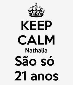 Poster: KEEP CALM Nathalia São só  21 anos