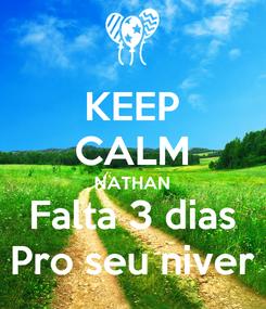 Poster: KEEP CALM NATHAN Falta 3 dias Pro seu niver