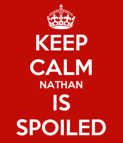 Poster: KEEP CALM NATHAN IS SPOILED