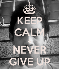 Poster: KEEP CALM & NEVER GIVE UP