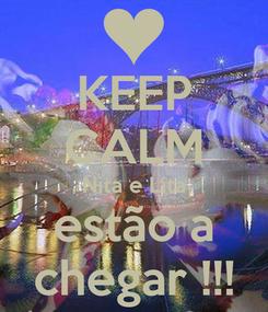 Poster: KEEP CALM Nita e Lita estão a chegar !!!