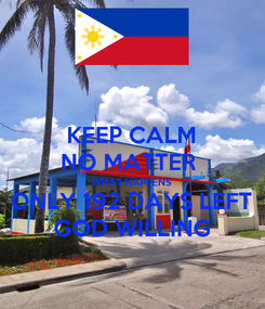 Poster: KEEP CALM NO MATTER  WHAT HAPPENS ONLY 192 DAYS LEFT GOD WILLING