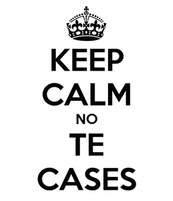 Poster: KEEP CALM NO TE CASES