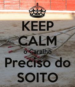 Poster: KEEP CALM o Caralho Preciso do SOITO