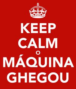 Poster: KEEP CALM O MÁQUINA GHEGOU