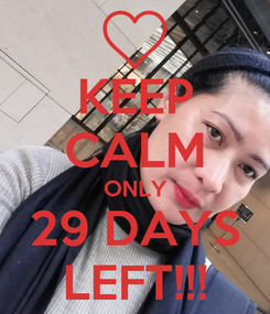 Poster: KEEP CALM ONLY 29 DAYS LEFT!!!
