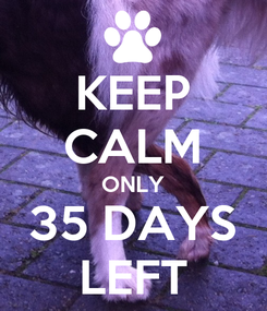 Poster: KEEP CALM ONLY 35 DAYS LEFT