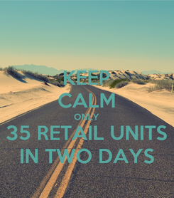 Poster: KEEP CALM ONLY 35 RETAIL UNITS IN TWO DAYS