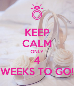 Poster: KEEP CALM ONLY 4 WEEKS TO GO!
