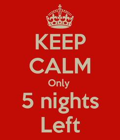 Poster: KEEP CALM Only  5 nights Left
