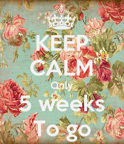 Poster: KEEP CALM Only 5 weeks To go