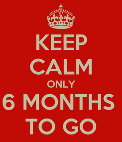 Poster: KEEP CALM ONLY 6 MONTHS  TO GO