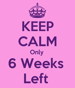 Poster: KEEP CALM Only  6 Weeks  Left