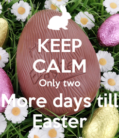 Poster: KEEP CALM Only two More days till Easter