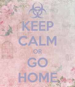 Poster: KEEP CALM OR GO HOME