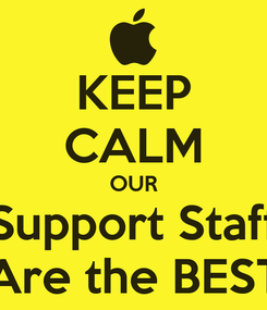 Poster: KEEP CALM OUR Support Staff Are the BEST