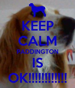 Poster: KEEP CALM PADDINGTON IS OK!!!!!!!!!!!!