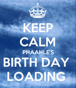 Poster: KEEP CALM PHAAHLE'S BIRTH DAY  LOADING