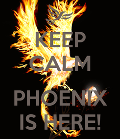 Poster: KEEP CALM  PHOENIX IS HERE!