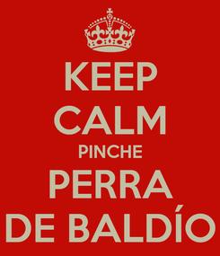 Poster: KEEP CALM PINCHE PERRA DE BALDÍO