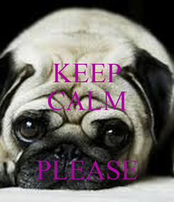 Poster: KEEP CALM   PLEASE