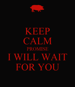 Poster: KEEP CALM PROMISE I WILL WAIT FOR YOU