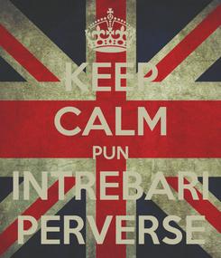 Poster: KEEP CALM PUN INTREBARI PERVERSE