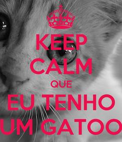 Poster: KEEP CALM QUE EU TENHO UM GATOO