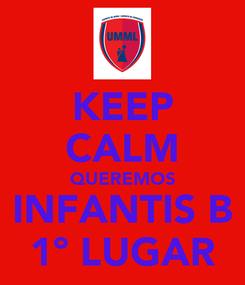 Poster: KEEP CALM QUEREMOS INFANTIS B 1º LUGAR