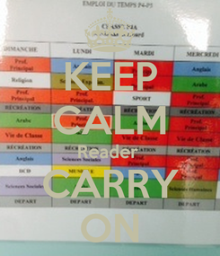 Poster: KEEP CALM Reader  CARRY ON