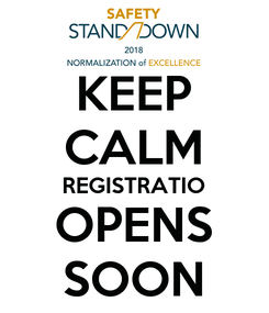 Poster: KEEP CALM REGISTRATIO OPENS SOON