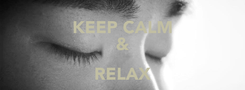 Poster: KEEP CALM & RELAX