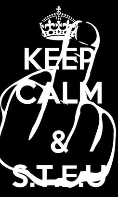 Poster: KEEP CALM  & S.T.F.U