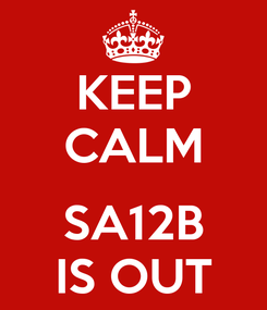 Poster: KEEP CALM  SA12B IS OUT