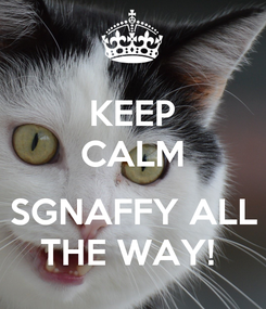 Poster: KEEP CALM  SGNAFFY ALL THE WAY!