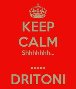 Poster: KEEP CALM Shhhhhhh... ..... DRITONI