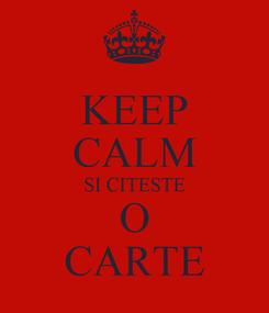 Poster: KEEP CALM SI CITESTE O CARTE