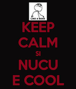 Poster: KEEP CALM SI NUCU E COOL