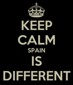 Poster: KEEP CALM SPAIN IS DIFFERENT