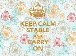 Poster: KEEP CALM STABLE AND CARRY ON