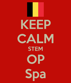 Poster: KEEP CALM STEM OP Spa