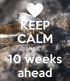 Poster: KEEP CALM still 10 weeks ahead